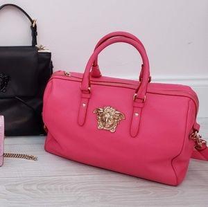 Pink Versace Palazzo Boston Bag